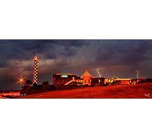 Lightning Over Lighthouse Resort Photographic Print