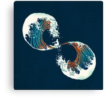 the wave is forever Canvas Print