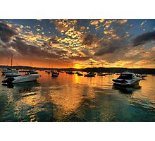 Sunset Mooring - Paradise Beach, Sydney - The HDR Experience Photographic Print