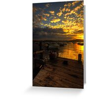 Sittin On a Dock In The Bay - Paradise Beach - The HDR Experience Greeting Card