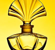 Perfume bottle in yellow - Print by Mark Podger