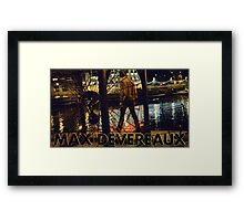 "Max Devereaux ""Milwaukee River"" T Shirt And Poster Framed Print"