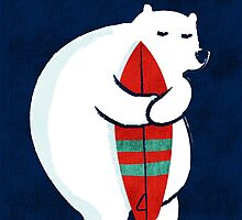 Surfing Polar Bear by Budi Kwan