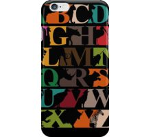 Alphabet zoo iPhone Case/Skin