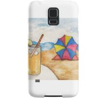 Beach Scene - Watercolor Samsung Galaxy Case/Skin