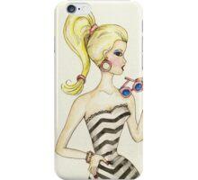 Barbie Vintage Style - Watercolor iPhone Case/Skin