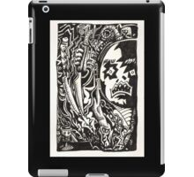 Wickedest Man (unpremeditated drawing of Aleister Crowley) iPad Case/Skin