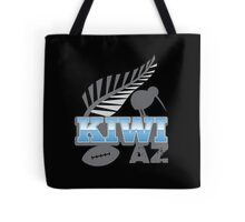 KIWI AZ with New Zealand kiwi bird rugby ball and silver fern Tote Bag
