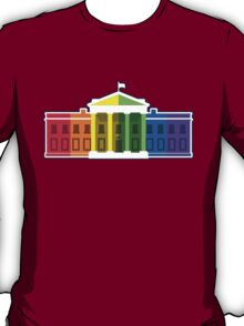White House Lit Up With Rainbow After Same-Sex Marriage Ruling #marriageequality T-Shirt