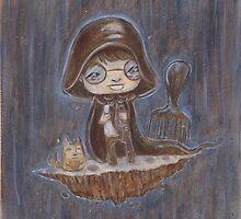 Dark Helmet Fan Art - Acrylic Painting by AmelythLomax