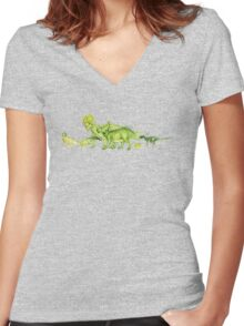 ceratopsians & co. Women's Fitted V-Neck T-Shirt