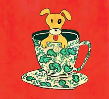 Puppy in a teacup by Budi Kwan