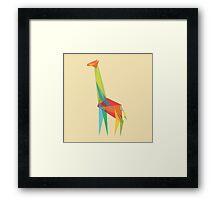 Fractal Geometric Giraffe Framed Print