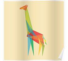 Fractal Geometric Giraffe Poster