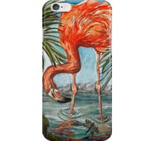Flamingo Beach: the digital version by Alma Lee iPhone Case/Skin