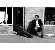 Between Gigs- Street Musician Photographic Print