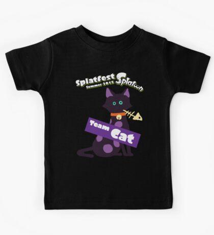 Splatfest Team Cat v.1 Kids Tee
