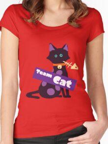 Splatfest Team Cat v.2 Women's Fitted Scoop T-Shirt