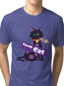 Splatfest Team Cat v.2 Tri-blend T-Shirt