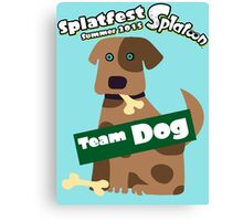 Splatfest Team Dog v.1 Canvas Print