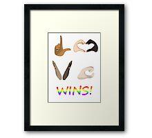 Love Wins! Framed Print