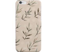 - Humble plant pattern (brown) - iPhone Case/Skin