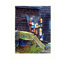 Buoys and Traps Art Print