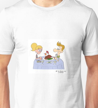 A Real Chicken for Dinner?! Unisex T-Shirt