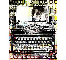 Words become flat like seltzer left for stale air Photographic Print
