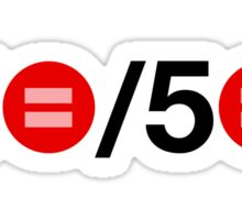 50 out of 50 Sticker