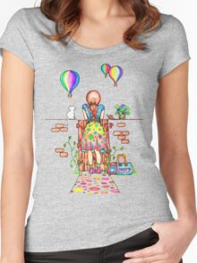Daydreaming On The Garden Gate Women's Fitted Scoop T-Shirt