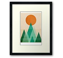 No Mountains High enough Framed Print