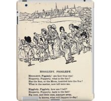 Miniature Under the Window Pictures & Rhymes for Children Kate Greenaway 1880 0014 Higgledy Piggledy iPad Case/Skin