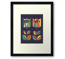 Whimsical Tulip Flower in Bloom Framed Print
