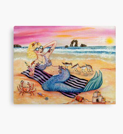 Mermaid on Vacation Canvas Print