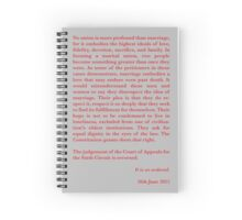 Kennedy's Equal Love Close Spiral Notebook