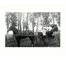 horse and buggy Art Print