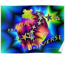 Fractal Universe Logo Design Poster