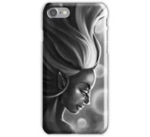 The Elf Woman (Black & White) iPhone Case/Skin