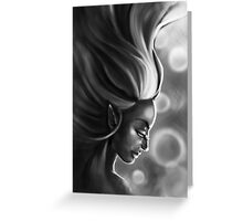 The Elf Woman (Black & White) Greeting Card