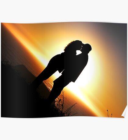 Kiss Me At Sunset Poster