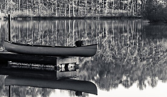 old town canoe by Phillip M. Burrow