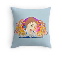 Storytime Belle Throw Pillow