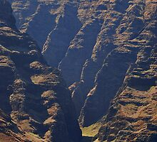 Canyon along the Napali Coast of Kauai, Hawaii by Michael Brewer