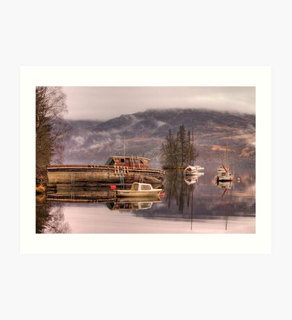 Morning reflections of Loch Ness Art Print