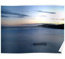 Long Exposures At Meal Beach,Burra,Shetland Poster