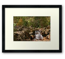 A little fall of water Framed Print