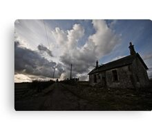 Haunted house on the Hill Canvas Print