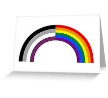 Homo-asexual Rainbow Greeting Card