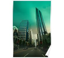 An evening drive through downtown Vancouver Poster